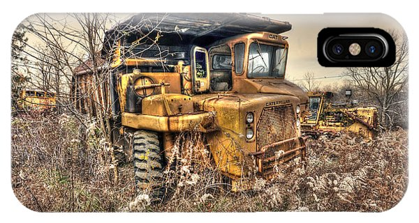 Old Construction Truck Phone Case by Dan Friend