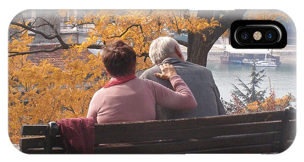 Old Couple Phone Case by Marija Dameski