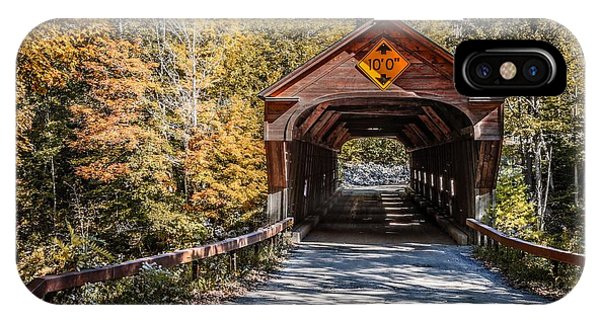Scenic New England iPhone Case - Old Covered Bridge Vermont by Edward Fielding