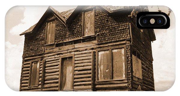 Old Cripple Creek Cabin IPhone Case