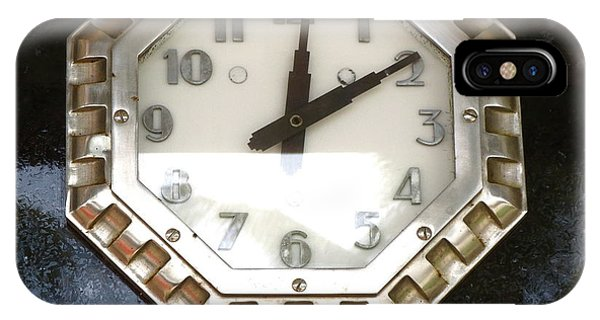 Old Decco Store Clock At 236 Worth Ave Palm Beach Fl IPhone Case