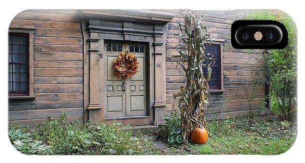 Old Deerfield Ma Doorway In Fall IPhone Case