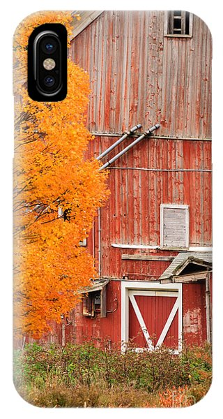 Old Dilapidated Country Barn During Autumn. IPhone Case