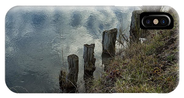 Old Dock Supports Along The Canal Bank - No 1 IPhone Case