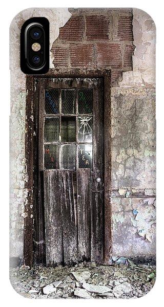 Old Door - Abandoned Building - Tea IPhone Case