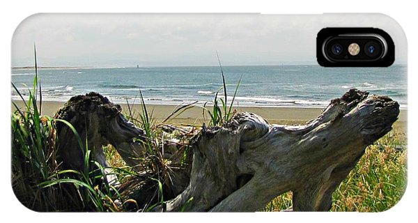 IPhone Case featuring the photograph Old Driftwood by Deahn      Benware