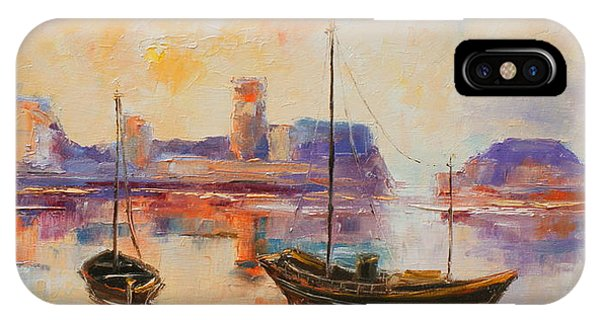 Old Dunbar Harbour IPhone Case