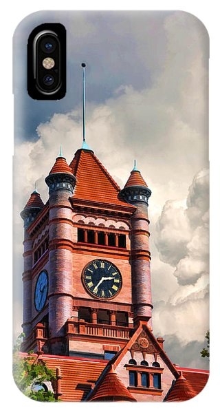Courthouse iPhone Case - Old Dupage County Courthouse Clouds by Christopher Arndt