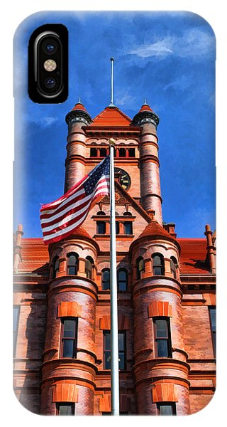 Courthouse iPhone Case - Old Dupage County Courthouse Flag by Christopher Arndt