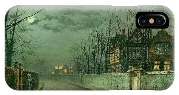 Old English House, Moonlight IPhone Case