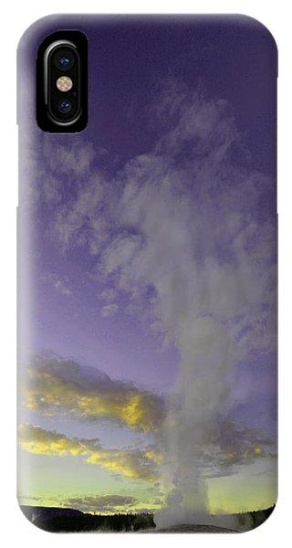 Old Faithful At Sunset IPhone Case