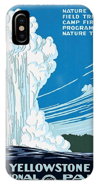 Old Faithful Yellowstone National Park Poster Ca 1938 IPhone Case