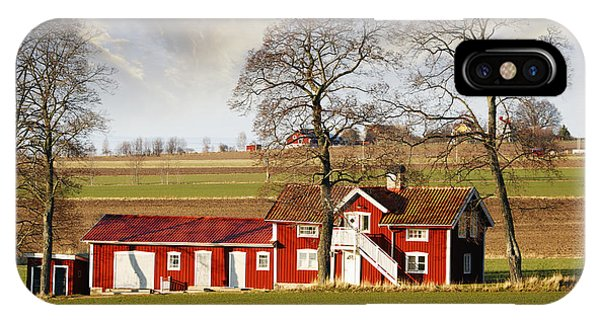Old Farm Set In A Rural Picturesque Landscape IPhone Case