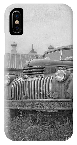 New England Barn iPhone Case - Old Farm Truck Out By The Barn by Edward Fielding