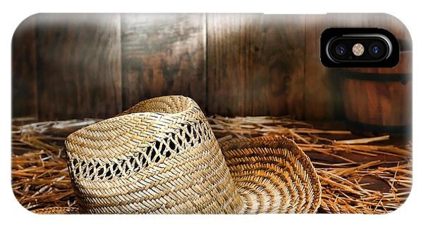 Old Farmer Hat And Rope IPhone Case