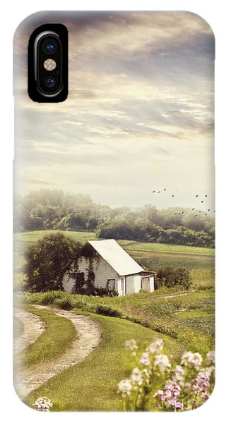 Old Farmhouse Down A Country Road IPhone Case