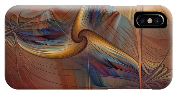 Fractal Landscape iPhone Case - Old-fashionened Swing Boat In The Afterglow by Karin Kuhlmann