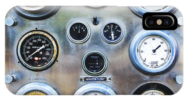 Old Fire Truck Gauge Panel IPhone Case