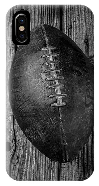 Black And White Art iPhone Case - Old Football by Garry Gay