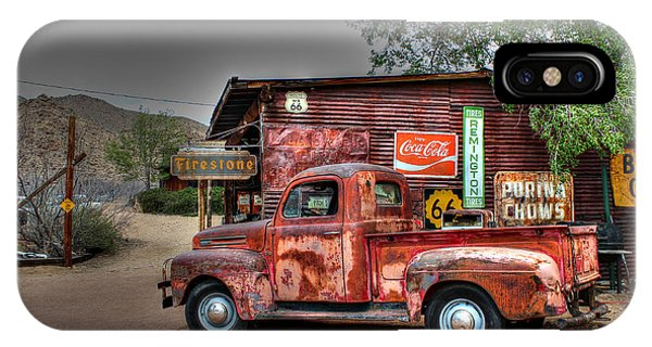 Old Ford Pickup On Route 66 IPhone Case