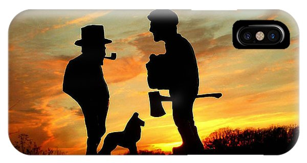 Old Friends Converge At Dusk IPhone Case