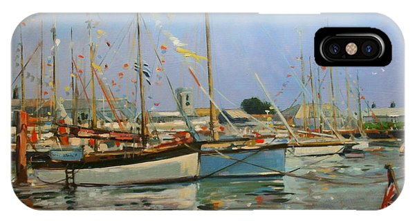 Bunting iPhone Case - Old Gaffers  Yarmouth  Isle Of Wight by Jennifer Wright