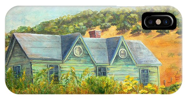 Old Green House On The Hill IPhone Case