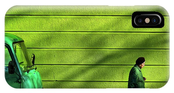 Old iPhone Case - Old Green by Zlatko Vickovic