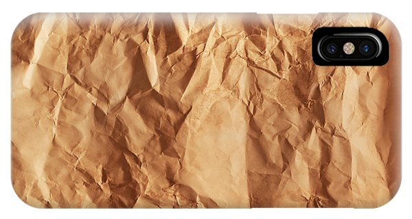 Old Grunge Creased Paper Texture. Retro Vintage Background IPhone Case