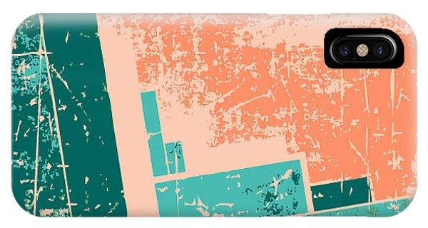 Futuristic iPhone Case - Old Grunge Pattern Vector Background by Nik Merkulov