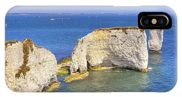 Bournemouth iPhone Case - Old Harry Rocks - Purbeck by Joana Kruse