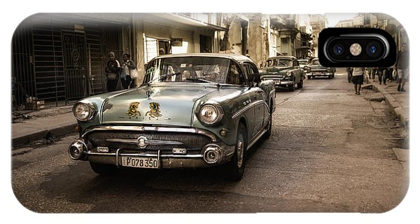 Downtown iPhone Case - Old  Havana  Street by Alper Uke