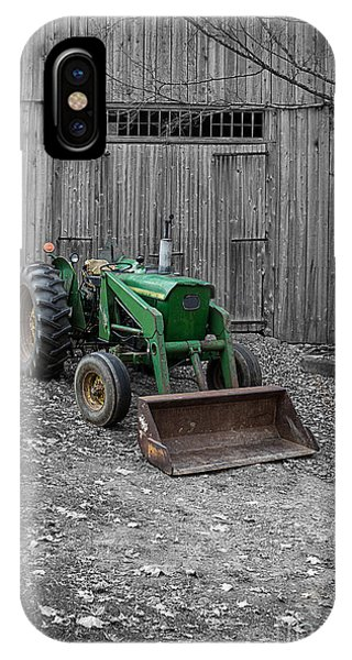 Etna iPhone Case - Old Tractor By The Barn Etna New Hampshire by Edward Fielding