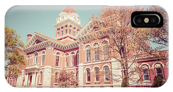 Old Lake County Courthouse Retro Photo IPhone Case