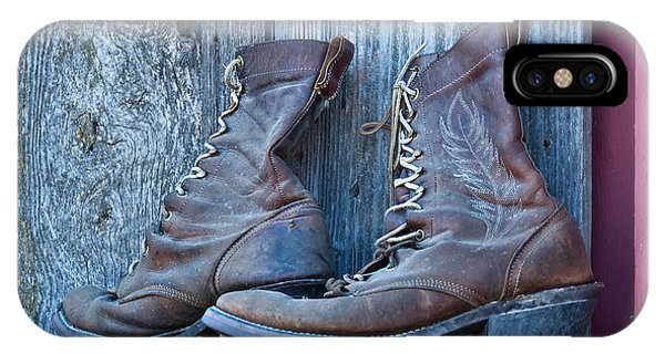 Old Leather Boots Still Life IPhone Case