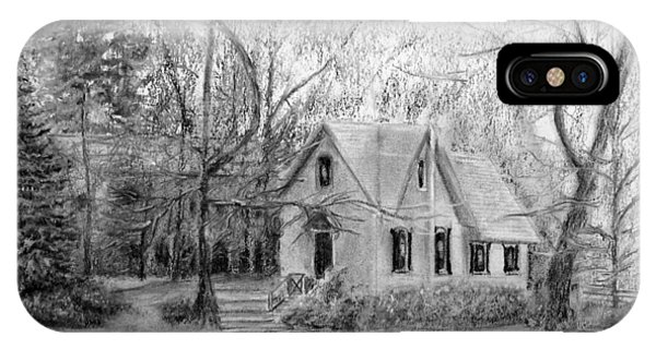 Old Library On Lake Afton - Winter IPhone Case