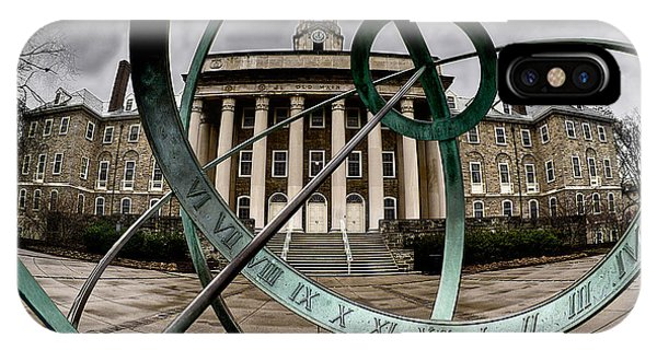 Old Main Through The Armillary Sphere IPhone Case