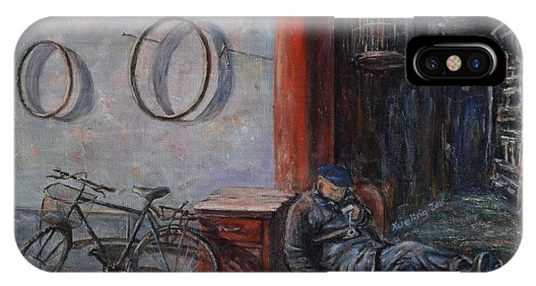 Old Man And His Bike IPhone Case