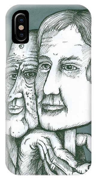 Old Man Behind A Young Mans Face IPhone Case