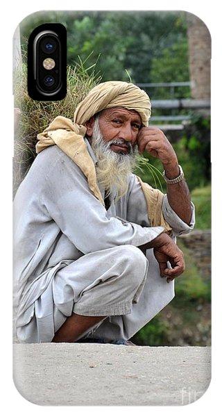 Old Man Carrying Fodder Swat Valley Kpk Pakistan IPhone Case