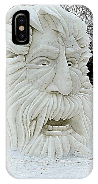 Old Man Winter Snow Sculpture IPhone Case
