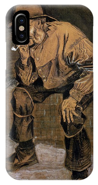 Deep Thought iPhone Case - Old Man With A Pipe, 1883 by Vincent van Gogh