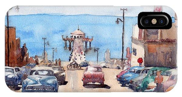 Avenue iPhone Case - Old Manhattan Beach by Max Good