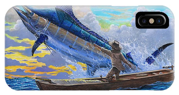 Men iPhone Case - Old Man And The Sea Off00133 by Carey Chen