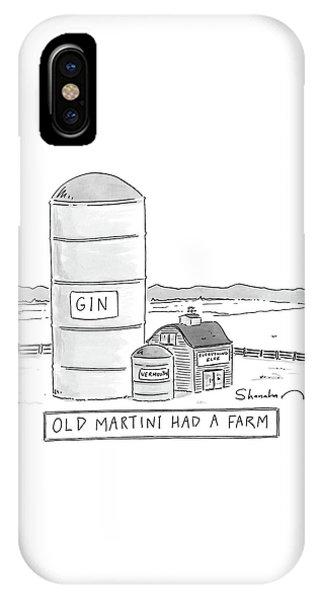 Old Martini Had A Farm IPhone Case