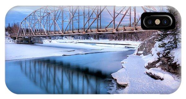 Winter iPhone Case - Old Matanuska River Bridge Near Palmer by Lucas Payne
