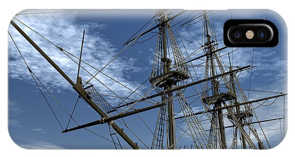 Schooner iPhone Case - Old Meduse Frigate Of The French Navy by Elena Duvernay