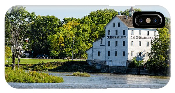 Old Mill On Grand River In Caledonia In Ontario IPhone Case