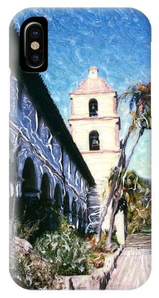 Old Mission Santa Barbara Walkway IPhone Case