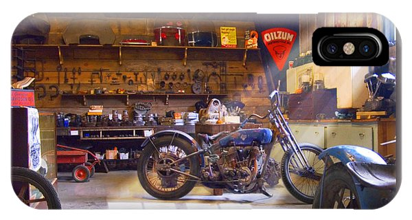 Old Motorcycle Shop 2 IPhone Case